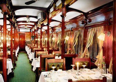 Rovos Rail Dining Pillar